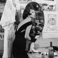 model in a dressing room by gleb derujinsky