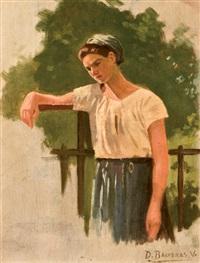 joven en la barandilla by dionisio baixeras y verdaguer