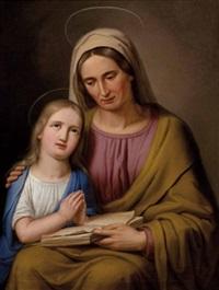 die hl. anna lehrt maria das lesen by josef arnold the younger