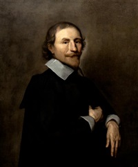 goateed gentleman in cloak by sir anthony van dyck
