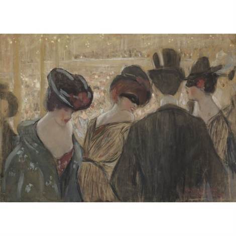 bal bullier paris by frederick carl frieseke
