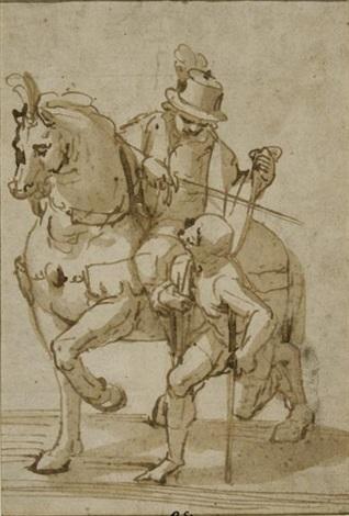 saint martin partageant son manteau avec un pauvre by lazzaro tavarone
