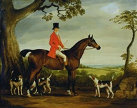huntsman with his hounds by british school (19)