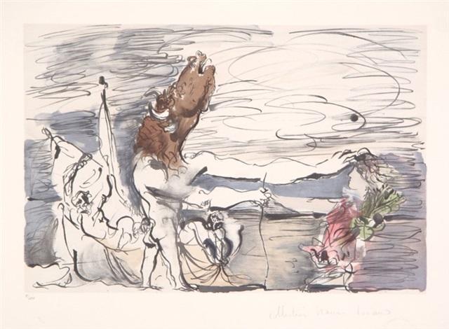 minotaure aveugle conduit par une petite fille by pablo picasso