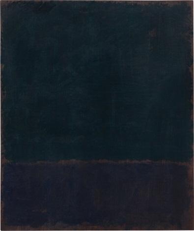 black blue painting by mark rothko