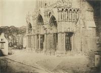 cathédrale de chartres, portail du midi (2 works) by charles nègre