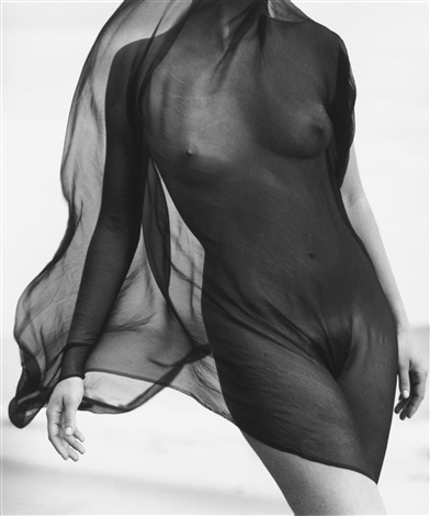 FEMALE TORSO WITH VEIL, PARADISE COVE by Herb Ritts on artnet