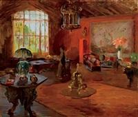 william chase's studio interior, shinnecock hills by henry r. rittenberg