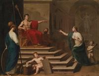 allegorie auf napoleon als befreier italiens by francesco alberi