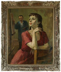 artist and his model (self portrait) by tully filmus