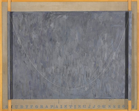 painting study by jasper johns