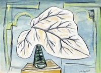 still life with leaf by john banting