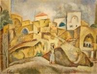 woman in a landscape by arieh allweil