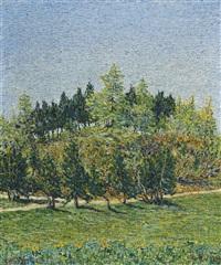 alberi di primavera by gottardo guido segantini