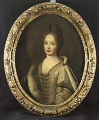 portrait de marie adélaïde de savoie, duchesse de bourgogne by pierre gobert