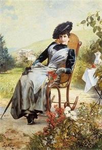 portret damy by stanislaw polian wolski