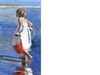 girl paddling by sherree valentine daines