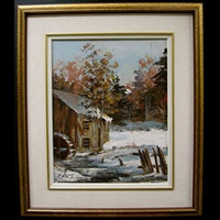 the old watermill by claude langevin