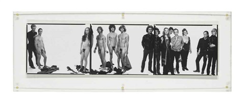 andy warhol and members of the factory new york city 10 30 69 triptych by richard avedon