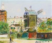 montmartre: le moulin de la galette by maurice utrillo