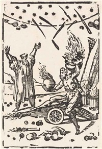 the effects of gun powder, from: the various operations of alchemy by domenico beccafumi