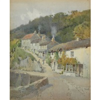 hill in town; edge of town by arthur tucker