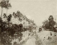 views around calcutta (4 works) by frederick fiebig