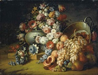 fiori e frutta (+ another; 2 works) by michele antonio rapous