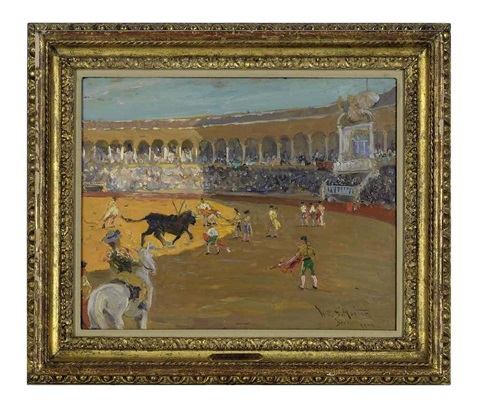 bull fight in seville by william samuel horton