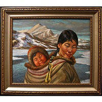 inuit mother and child by nori peter