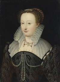 portrait of a woman, said to be madeleine de l'aubespine, dame de villeroy by françois clouet