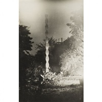 la colonne sans fin, dans le jardin d'edward steichen, voulangis by constantin brancusi