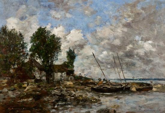 le rivage à plougastel by eugène boudin