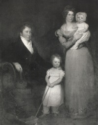 portrait of a lady and gentleman with their two children by w. frederick
