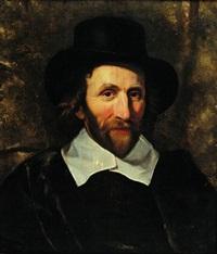 portrait d'homme au chapeau by abraham de vries