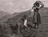 bauerinnen beim heuen by luigi arbarello