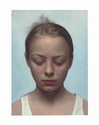 head of a child (10) by gottfried helnwein