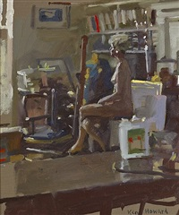 nude in orpen studio by ken howard