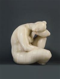 desnudo sentado by francisco zúñiga