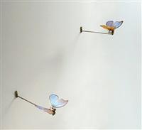 schmetterlinge (butterflies in love) by rebecca horn