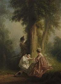 arlequin, pierrot et colombine (pair) by eugène gabé