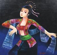 penari legong by gunawan bagea
