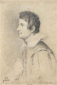 portrait de jeune homme en buste, probablement annibale monaldi by ottavio maria leoni