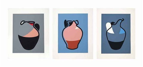 pink jug water jug brown jug 3 works by patrick caulfield