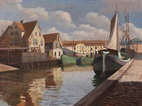 scenery from wilder's canal by frederik wilhelm svendsen