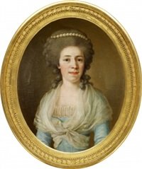 porträtt föreställande eleonora antoinette florentina von kochen by ulrika (ulla frederika) pasch