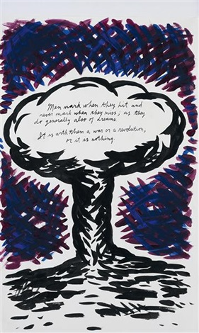 untitled men mark when they hit by raymond pettibon