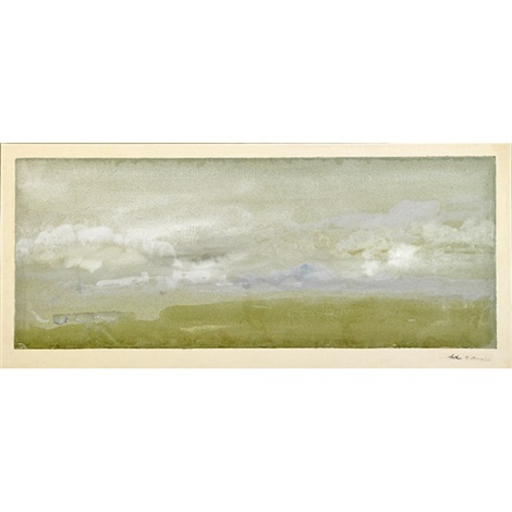 landscape with rain clouds by arthur bowen davies