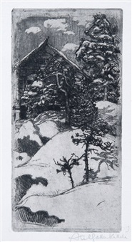kalela at vinter time by akseli valdemar gallen-kallela