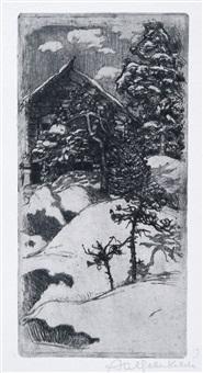 kalela at vinter time by akseli valdemar gallen-kallela
